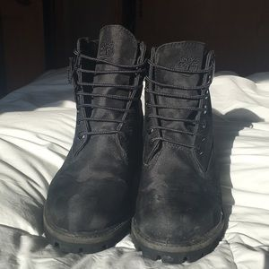 Timberland Shoes | All Black Camo